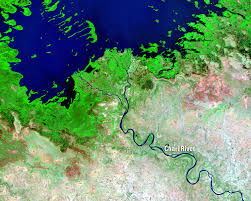 Chad Map Lake Chad West Africa Earthshots Satellite Images Of