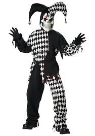 kids skeleton jester costume boys scary clown halloween costumes