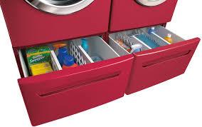 Frigidaire Washer Dryer Pedestal Frigidaire Fafs4474lr 27 Inch Front Load Steam Washer With 3 81 Cu