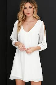 pretty ivory dress shift dress cold shoulder dress 40 00