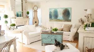 Shabby Chic Furniture Ct by Distressed Yet Pretty White Shabby Chic Living Rooms Home Design