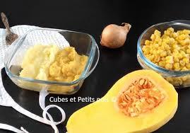 cuisiner pour bebe recette pour bébé de purée de butternut et maïs au blanc de poulet