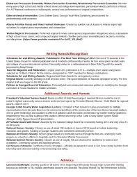 Audition Resume Sample by Orchestra Musician Resume Template Virtren Com