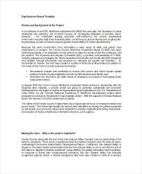 project analysis report template gap analysis template 9 fredocuments downloade word excel pdf