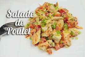 cuisiner des restes de poulet salade de poulet