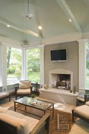 nashville screen porch with mint green painted ceiling deck