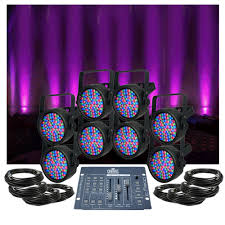 american dj lighting equipment up lighting system chauvet slimpar 38 x8 upsys 2 low priced led