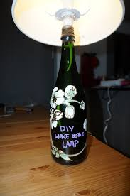 How To Decorate A Wine Bottle Diy Wine Bottle Lamp Step By Step Travelling Corkscrew