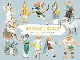 greek mythology clipart watercolor digital download greece vector