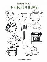 coloring pages of kitchen things free math printables for preschool counting free math math and