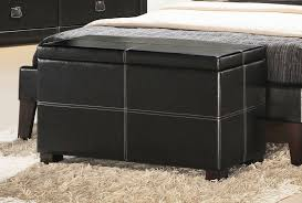 bedroom modern bedroom furniture of dark leather ottoman storage