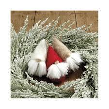 felt gnome ornaments set of 3 ballard designs