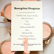 wedding reception program white reception programs