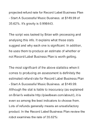 record label business plan review