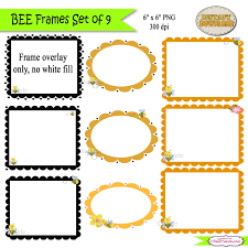 bee clipart frame pencil and in color bee clipart frame
