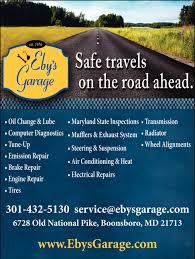 Safe travels on the road ahead eby 39 s garage boonsboro md