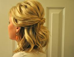 prom hairstyles for short hair half up half down half updo