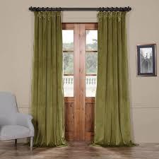 green plush velvet curtain
