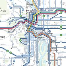 Portland Public Transportation Map by Transit Maps