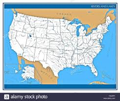 map of the united states showing states and cities united states map of rivers and lakes showing state shapes and