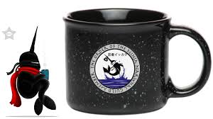 ninja narwhal coffee company 13oz campfire coffee mug by michele