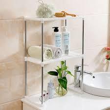 Metal Bathroom Storage Home Storage Rack Holder Stainless Steel Plastic Layer