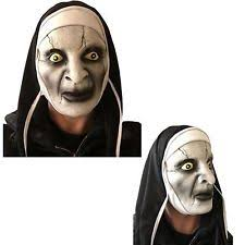 Conjuring Halloween Costumes Scary Mask Latex Horror Varak Halloween Nuns Habit Costume