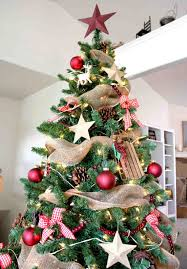 country tree decorations ideas for