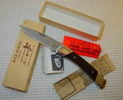 Buck Kitchen Knives by Usa 501 Lockback Maroon Micarta