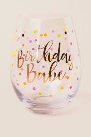 wine glass birthday birthday jumbo stemless wine glass francesca u0027s