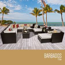 Outdoor Furniture Fabric by Tk Classics 13 Piece Barbados Outdoor Wicker Patio Furniture Set