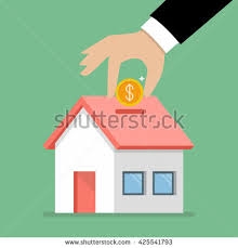 in house puts house piggy bank stock vector 425541793