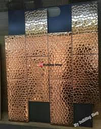 gold metal kitchen wall tile mosaics smmt113 stainless steel tiles