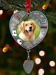 personalized remembrance ornaments dog photo memorial ornament with engravable dog tag