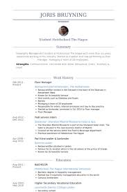 Food And Beverage Manager Resume Examples by Floor Manager Resume Samples Visualcv Resume Samples Database