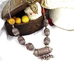 large silver beads necklace images Antique silver bronze gemstone jewelry styles in yemen jpg