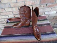 s country boots size 11 s dan post marlboro cowboy boots p2551 size 11d rust