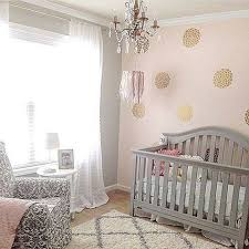 pink grey and gold glamorous u0027s nursery cribspiration