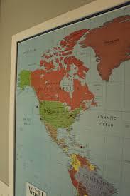 World Map Cork Board by Diy Framed Map Corkboard Bulletin
