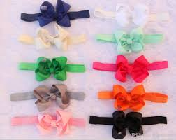 stretchy ribbon new baby 2 5 inch ribbon big bows headbands girl grosgrain bowknot
