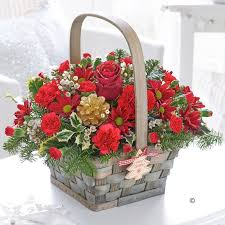 Christmas Basket Christmas Basket Fishlocks Flowers Liverpool Merseyside