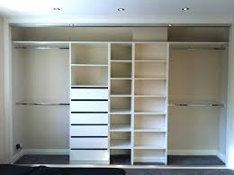 Interior Shelving Units Adjustable Shelving With Draw Unit Wardrobe Double Hangers