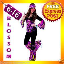 Halloween Costumes J85 60s 70s Retro Hippie Disco Dancing Groovy Party