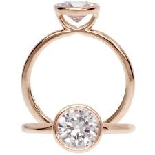 bezel set engagement ring best 25 bezel engagement rings ideas on design of