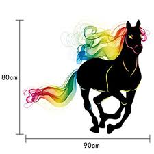 aliexpress com buy colorful rainbow horse wall sticker peel and