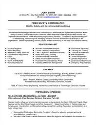 Fire Department Resume Link To An Safety Manager Resume