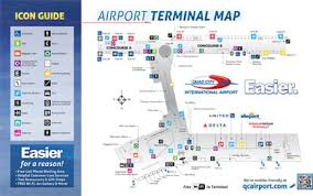 atlanta airport floor plan quad city international airport maps