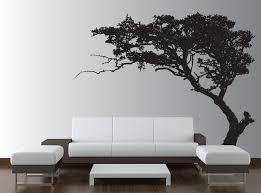 living room elegant red love heart tree wall decal in minimalist