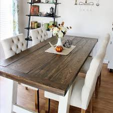Diy Farmhouse Dining Room Table Diy Farmhouse Style Dining Table Domestically Creative