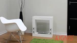 tectum mini white ventless ethanol fireplace by ignis youtube